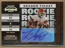 LEE SUGGS 03 PLAYOFF SEASON TICKET ROOKIE AUTO #101  **