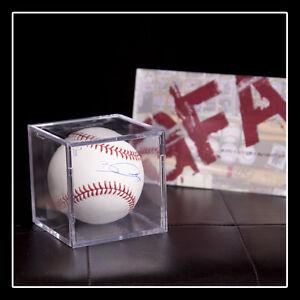 GFA Oakland Athletics BOBBY CROSBY Signed Rawlings MLB Baseball COA