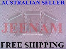 100 Small ZipLock Zip Lock Plastic Resealable Plastic Bag 75MMX50MM + FREE SHIP