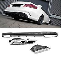 Für Mercedes-Benz E-Klasse W212 E63 AMG Look Heckschürze Stoßstange Diffusor