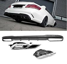 Für Mercedes-Benz E-Klasse W212 E63 AMG Look Heckschürze Stoßstange Diffusor *18