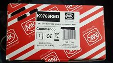 Total 4 pin New E MK Commando Red K13637 Switch Scoket Outlet 32 A 3 p