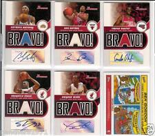 05-06 Bowman Bravo Carmelo Anthony Auto Autograph Jersey Card Only 9 Made!