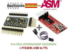 Pro Mini ATMEGA328P + FTDI FT232RL USB to TTL Serial Converter ENVIO RAPIDO