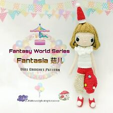 Doll Crochet Pattern / Amigurumi - Fantasy World Series : Fantasia