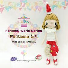 Doll Crochet Pattern / Amigurumi - Fantasy World Series : Fantasia