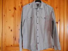 Schönes Herren Business Hemd langarm mit Krempelärmel grau Größe L von H&M