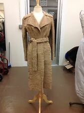 LANVIN DESIGNER BLONDE GOLD BROADTAIL COAT MATCHING BELT RARE COLLECTORS ITEM