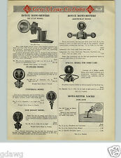 1925 PAPER AD Boyce Moto Meter Deluxe Aristocrat Ford Cars Midget Clock Whistle