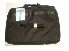 "Maletín ordenador portatil Temium 18.4"" Funda bolsa PC. Network Laptop Bag Negro"