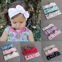 3PCS Set Kids Baby Infant Princess Headband Bowknot Flower Hair Band Headwear