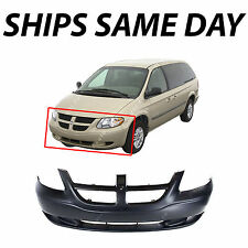 New Primered - Front Bumper Cover For 2001-2004 Dodge Caravan Sport Without Fog