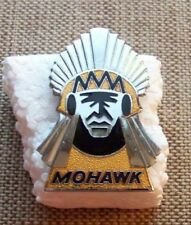 1960's MOHAWK AIRLINES Ramp Agent Hat Badge (Very RARE, NICE Condition!)