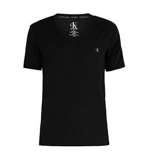 CALVIN KLEIN Herren V Neck T-Shirt Cotton Stretch CK One black Gr. S