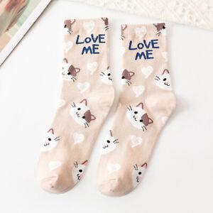 Womens Cute Cotton Socks Casual  Sports Tide Socks Breathable Wild Tube Socks