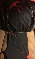 Nike Air Jordan Flight 2 PC Warm Up Suit Black Red Size Med EXCELLENT Condition