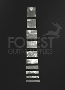Gibson les paul ® custom style guitar celluloid inlay square set (10)