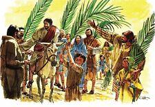 """Reprint - """"Jesus Enters Jerusalem"""" By Richard Hook On 11"""" X 17"""" Card Stock"""