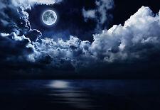 """CHOIS WM9016 Landscape Wall Mural Moon Night Cloud Wallpaper Sticker 100"""" x 145"""""""