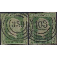 Preußen Nr. 5a+5b gestempelt