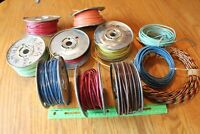Copper Wire Auto 600v stranded 12 14 20 AWG cable LOT of 11 spools apx 15lbs