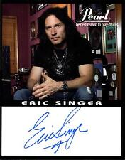 Eric Singer (KISS) signiertes PEARL Promo Foto! Original Autogramm Handsigniert!