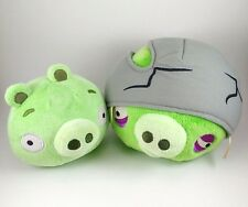 Angry Birds Green Pig Cracked Helmet Large Plush & Regular Pig with SOUND