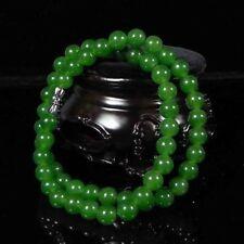 8mm Beautiful Chinese Handcraft 100% Natural Jade Green Jade Necklaces