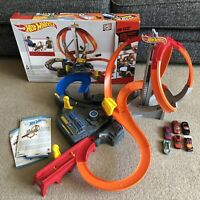 HOT WHEELS SPIN STORM BOXED + 6 Cars DUAL MOTORIZED BOOSTER HOTWHEELS