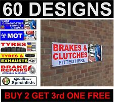 MOT Diagnostics service repair tyres banner sign workshop garage advertisement