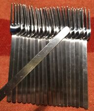 """1950's AMERICAN AIRLINES AA EAGLE LOGO Stick DINNER FORK Modern Stainless 6-5/8"""""""