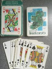 Greetings from IRELAND plastic coated playing cards John Hinde souvenir map vgc
