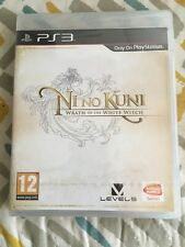 NI NO KUNI WRATH OF THE WHITE WITCH NEW/SEALED PS3