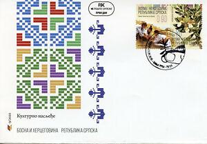 Bosnia & Herzegovina Plants Stamps 2020 FDC Iva Grass Cultural Heritage 2v Set