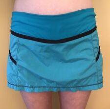 Lululemon Size 8 Run Reflection Skirt Oasis Blue Yoga Tennis Golf