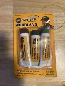 Hunters Specialties Woodland Camo Tube Makeup Kit Brown/Black/Green 3/Pk 00268