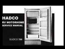 HADCO RV MOTORHOME REFRIGERATOR MANUAL SET for Trailer Fridge Service & Repair