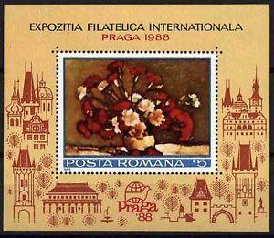 1598 Romania 1988 Flowers Block MNH