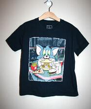 Kids Boys Girls TOM & JERRY Cartoon Navy Blue Short Sleeve T-Shirt Size 8