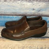 Neil M ROME Brown Men's Slip Ons Loafers Dress Shoes Leather Size 10.5 M