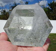 Huge Clear Quartz Phantom Crystal Point Madagascar Green Chlorite Rainbow Beauty