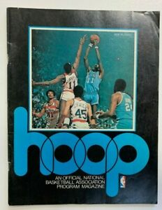 Vntg 1976 BUFFALO BRAVES vs CLEVELAND CAVALIERS Game Program THE AUD McAdoo NBA.