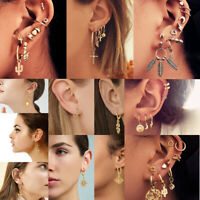 Vintage Mixed Metal Drop Dangle Earrings Set For Women Fashion Jewelry