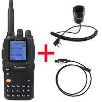 Wouxun KG-UV9D Walkie Talkie UHF/VHF Repeater FM Radio+USB Cable+Speaker Mic HOT