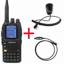 NUOVO Wouxun kg-uv9d (PLUS) Walkie Walkie-talkie UHF / VHF 2-way Radio + cable + altoparlante MIC IN