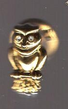 Pin's hibou ou chouette (doré relief)
