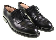 J.M. Weston Black Leather Split Toe Blucher Oxford Dress Shoes 12 D
