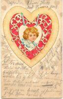 "BAYERN ""HOFHEIM Ufr."" K1 in selt. dunkelblauer Farbe a. AK BAD KISSINGEN 1904"