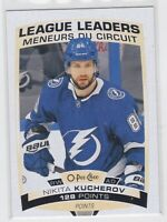 19/20 OPC..MIKITA KUCHEROV..LEAGUE LEADERS..# 584..LIGHTNING..FREE COMBINED SHIP