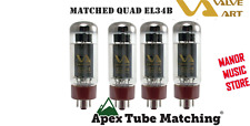 Matched Quad EL34B VALVE ART Tube Set is improved EL34A + substitutes for 6CA7